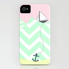 Anchor sail boat iPhone case