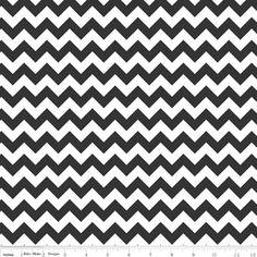 Small Chevron in Black -- Manufacturer: Riley Blake Designs -- Designer: Riley Blake Designs -- Collection: Small Chevron -- Print Name: Small Chevron in Black