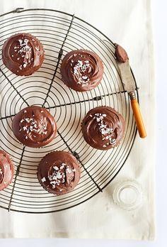 Кексы с шоколадным ганашем