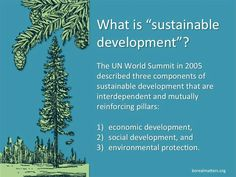 "What is ""sustainable Development?"" defined."