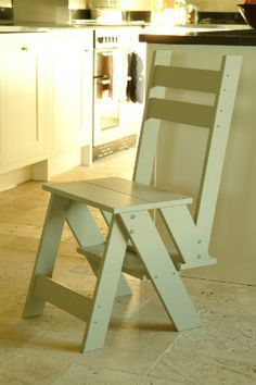 Step ladder and chair in one