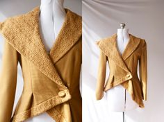 Vintage  Camel Coat  Asymmetrical Wool  Made by PomegranateVintage, $500.00