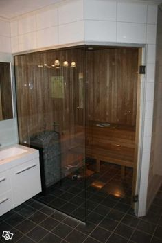 Bastu Aqua, Steam Room, Saunas, Home Spa, Bathroom Layout, Armoire, Mid-century Modern, Bathtub, Bath Ideas
