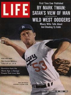 LIFE Magazine September 1962 (Maury Wills of the LA Dodgers) (First Time Ever Published by Mark Twain: Satan's View of Man) Dodgers Fan, Dodgers Baseball, Baseball Players, Baseball Uniforms, Football, Mark Twain, Life Magazine, History Magazine, Savage People
