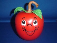 Fisher Price Happy Apple Roly-Poly Musical Chime Toy ~ Once upon a ...