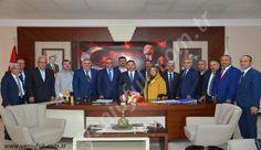Kdz.Ereğli Muhtarlar Derneği yönetimi ile köy ve mahalle muhtarları Kdz.Ereğli Belediye Başkanı Hüseyin Uysal'ı ziyaret etti.