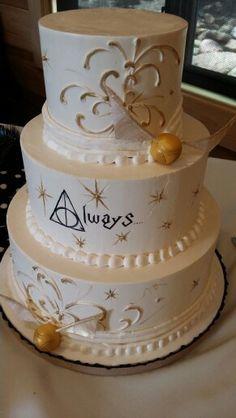 Harry Potter wedding cake! #harrypotter