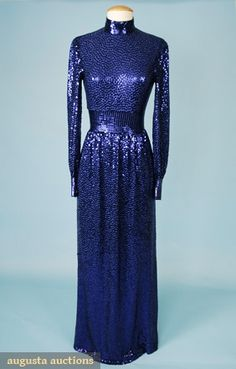 Augusta Auctions, April 2006 Vintage Clothing & Textile Auction, Lot 618: Norman Norell Mermaid Dress, C.1970