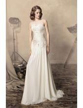 Rund-neck Preiswertes Schönes Hochzeitskleid 1334 Jane