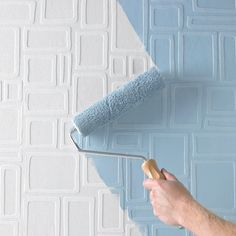 "Paintable 33' x 20.5"" Geometric 3D Embossed Wallpaper Roll"