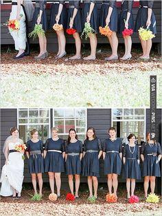 black bridesmaid dresses | CHECK OUT MORE IDEAS AT WEDDINGPINS.NET | #bridesmaids