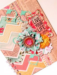 #mini album featuring the #epiphanycrafts Shape Studio Tool Round 25 and Rhinestone charms.