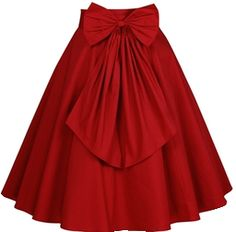 Red skirt with bow