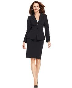Tahari by ASL Suit, Buckle-Pocket Jacket & Pants - Womens Suits ...