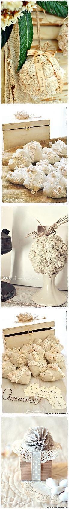 Винтажные композиции из текстильных роз от Anna - Lovely Home, Италия. Очень красиво!.