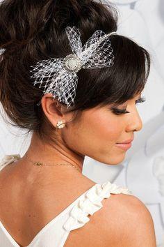 handmade wedding headband - photo