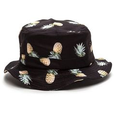 1e5d69a932d Pineapple Express Bucket Hat BLACK ( 15) ❤ liked on Polyvore featuring  accessories