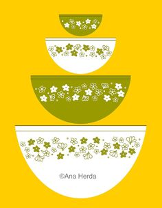 Pyrex Crazy Daisy PDF by Lolabags on Etsy, $10.00