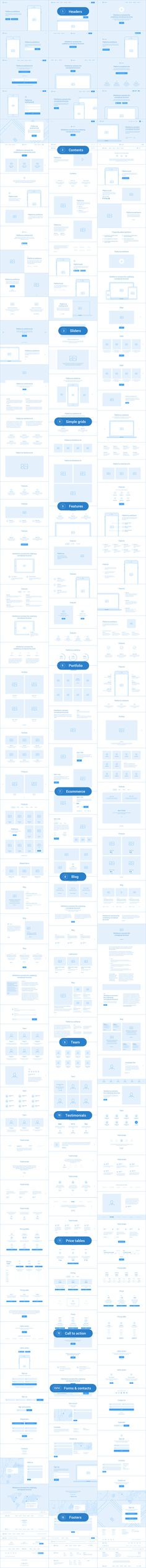 Platforma: Ultimate Wireframe Kit of 200+ Layouts for Sketch - Download theme here : http://themeforest.net/item/platforma-ultimate-wireframe-kit-of-200-layouts-for-sketch/15894124?ref=pxcr