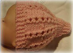 Bonnet ajouré au tricot pour Prématuré