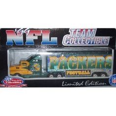 Green Bay Packers 1999 NFL White Rose Diecast Kenworth Tractor Trailer 1/80 Scale Truck Collectible Team Car Football by NFL  $13.89
