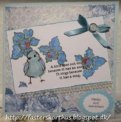 Fasters korthus: Sweet bird card