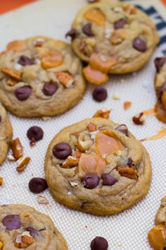 Salted Caramel Pecan Chocolate Chip Cookies
