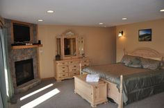 "Simply stunning master suite!  This is to cabins what ""glamping"" is to camping!"