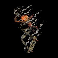 #Disney: Nightmare Before Christmas: Jack #Skellington #skateboarding t-shirt.