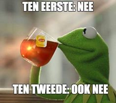 Kermit The Frog Meme, Dutch Quotes, Very Funny, My Tea, Emoticon, Frogs, Feel Good, Haha, Healing