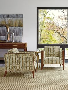 Midcentury Modern Exposed Wood Chairs from Lexington Furniture Upscale Furniture, High Quality Furniture, Luxury Furniture, Contemporary Furniture, Furniture Design, Furniture Ideas, Apartment Bedroom Decor, Apartment Furniture, Dining Room Furniture