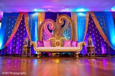Henna Inspired Indian Reception Decoration http://www.maharaniweddings.com/gallery/photo/77405