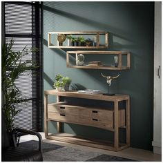 Kombination af vægreol og væglampe i akacietræ Entryway Bench, Nightstand, Shelves, Pier Import, Frame, Furniture, Home Decor, Wood Wall Shelf, Floor Lamp