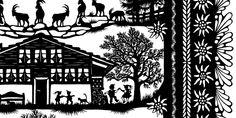 Esther Gerber Scherenschnitte | Bilder, Karten und Geschenkartikel mit Scherenschnitten von Esther Gerber Paper Cut Design, Cnc Projects, Paper Cutting, Paper Art, Folk Art, Stencils, Pure Products, Traditional, Silhouettes