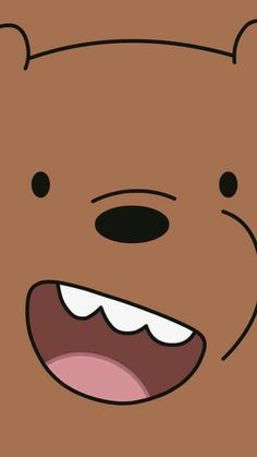 🐣 We Bare Bears This is the brown bear from the cartoon. My granddaughter Twinkle Toes and I have been watching it lately and now we're making big head posters for our art gallery.