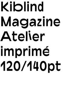Kiblind typeface
