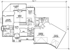 Any Style House Plans - Foot Home , 1 Story, 2 Bedroom and 2 Bath, 3 Garage Stalls by Monster House Plans - Plan 53-355