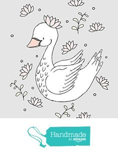 Royal Swan - Nursery Art Print from Sweet Melody Designs https://www.amazon.com/dp/B01LYJQCDT/ref=hnd_sw_r_pi_dp_1v29xbV62PHXG #handmadeatamazon
