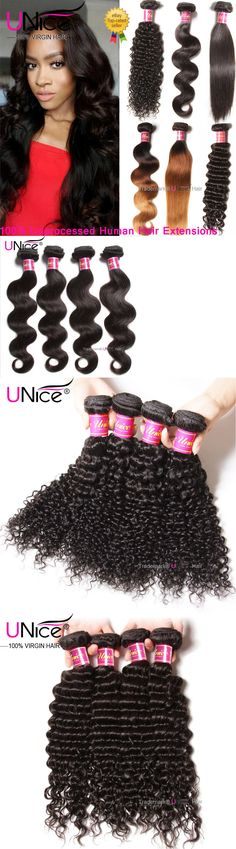 Hair Extensions: 8A Peruvian Body Wave Human Hair 1/3Bundles Unice Curly Straight Hair Extensions BUY IT NOW ONLY: $96.65 Unice Hair, Body Wave, Straight Hairstyles, Hair Extensions, Curly, Ebay, Fashion, Weave Hair Extensions, Moda