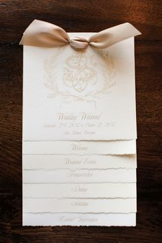 White and Gold Wedding. Ceremony Program With Logo This is just lovely. Paper is darling and love the way it looks. Wedding Paper, Our Wedding, Wedding Ideas, Wedding Ceremony, Wedding Notes, Wedding Inspiration, Wedding Gold, Formal Wedding, Spring Wedding