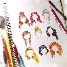 Disney princess and queen hair drawings
