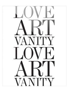Love Art Vanity No 2 by Bohemian Riot (Plexiglass)