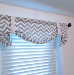 Twill Storm Grey CHEVRON Curtain Tie Up by supplierofdreams