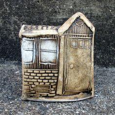 Miniature Ceramic House Sculpture Porcelain Home by zmedceramics, $90.00