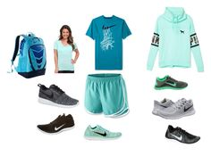 """""""Sports"""" by lquick4 ❤ liked on Polyvore featuring Victoria's Secret PINK and NIKE"""