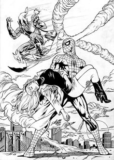 Amazing Spider-Man Death of Gwen Stacy Comic Art Vintage Comic Books, Vintage Comics, Comic Books Art, Spiderman Pictures, Spiderman Art, Amazing Spiderman, Comic Link, Black And White Comics, Comic Art Community