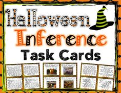 Halloween Inference Task Cards { Text, Picture, and Riddles }$