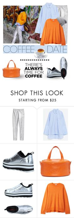 """""""Buzz-Worthy: Coffee Date"""" by lacas ❤ liked on Polyvore featuring H&M, Balenciaga, Prada Sport, The North Face and CoffeeDate"""