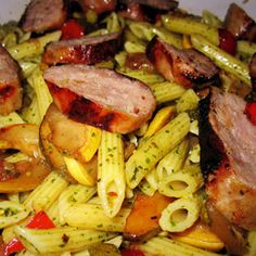 PISP ::: Premio Sweet Italian Sausage Pesto Pasta