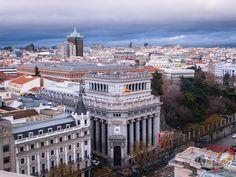 La vista desde la Azotea Círculo de Bellas Artes. Madrid, Spain.